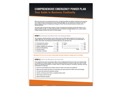 Comprehensive Emergency Power Plan